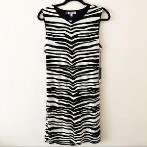 NWT Jennifer Lopez Zebra Print Stretch Dress.Sz Lg